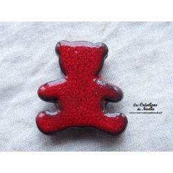 Magnet ourson couleur rouge piment