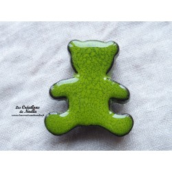 Magnet ourson couleur vert reinette