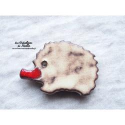 Magnet hérisson couleur crème brûlée