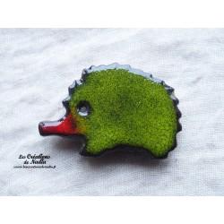 Magnet hérisson couleur vert reinette