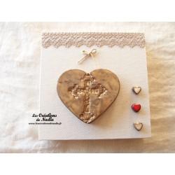 Tableau coeur et croix