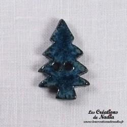 Bouton sapin bleu