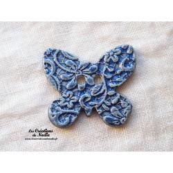 Bouton papillon couleur bleu outremer