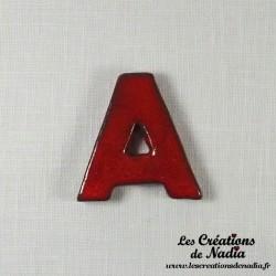 Lettre A en céramique