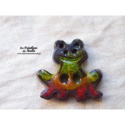 Bouton grenouille verte