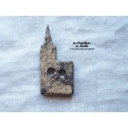 Bouton cathédrale marron glacé