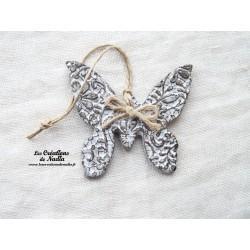 Papillon couleur Elsass café impressions fines dentelles