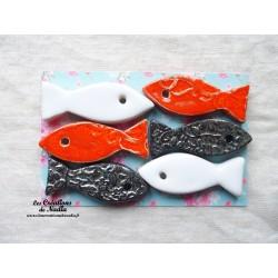 Lot de 6  sardines en céramique porte couteau