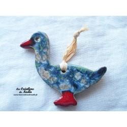 Petit canard couleur bleu-gris marbré