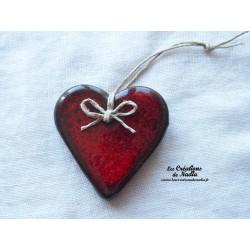 Coeur Katele rouge pomme d'amour