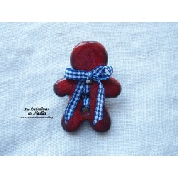 Pins grand Mannele couleur rouge piment