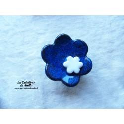 Poppies fleur pour les jardinières, grand modèle, couleur bleu nuit et blanc
