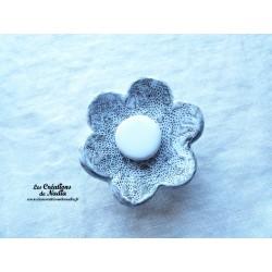 Poppies fleur pour les jardinières, grand modèle, couleur Elsass café et blanc