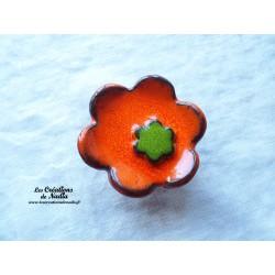 Poppies fleur pour les jardinières, grand modèle, couleur orange et vert reinette