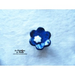 Poppies fleur pour les jardinières, moyen modèle, couleur bleu nuit et blanc