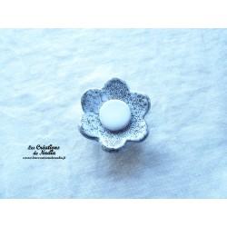Poppies fleur pour les jardinières, moyen modèle, couleur Elsass café et blanc