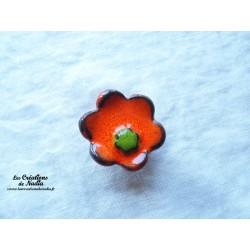 Poppies fleur pour les jardinières, moyen modèle, couleur orange et vert reinette