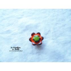 Poppies fleur pour les jardinières, petit modèle, couleur orange et vert reinette