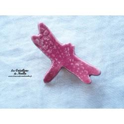 Libellule en céramique pour les jardins et jardinières, couleur rose