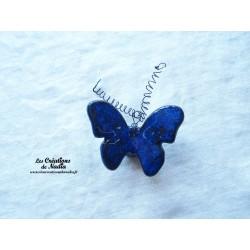 Papillon en céramique pour les jardins et jardinières taille moyenne, couleur bleu nuit
