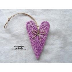 Coeur Suzel lilas impression fine dentelle