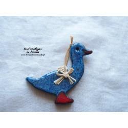 Petit canard couleur bleu