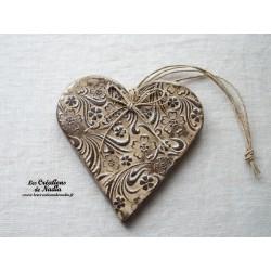 Coeur Liesel bicolore crème en céramique