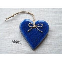 Coeur Katele bleu outremer
