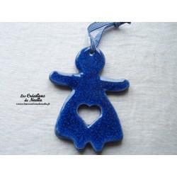 Maïdela en céramique couleur bleu outremer
