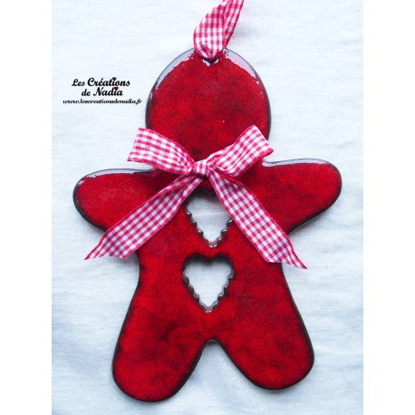 Grand Mannele couleur rouge pomme d'amour
