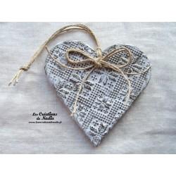 Coeur en céramique Liesel couleur Elsass café