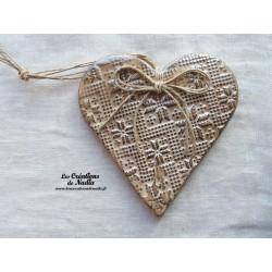 Coeur Liesel couleur marron glacé en poterie