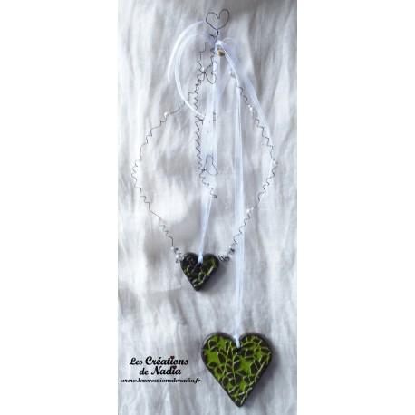 Farandole de coeurs vert reinette
