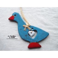 Sidonie l'oie couleur bleu canard