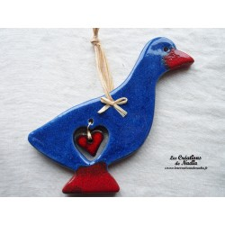 Sidonie l'oie couleur bleu outremer