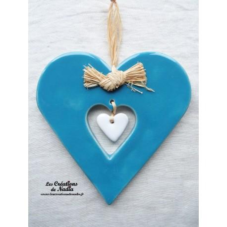 Coeur Hansi bleu lagon