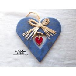 Coeur Hansi bleu grès
