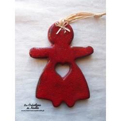 Maïdela en céramique couleur rouge piment