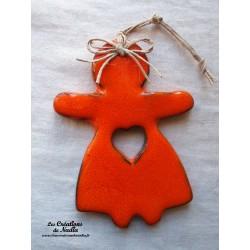 Maïdela en céramique couleur orange
