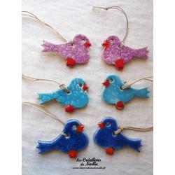 Six oiseaux couleurs assorties lot numéro 3