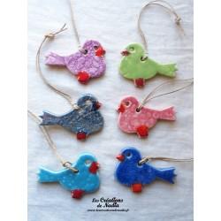 Six oiseaux couleurs assorties lot numéro 7