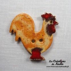 Bouton coq pain d'épice