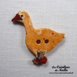 Bouton oie pain d'épice
