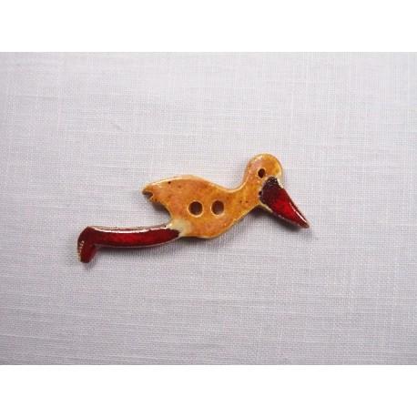 Bouton cigogne en vol pain d'épice