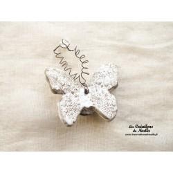 Papillon en céramique pour les jardins et jardinières taille moyenne, couleur Elsass café