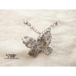 Papillon en céramique pour les jardins et jardinières taille petit, couleur Elsass café