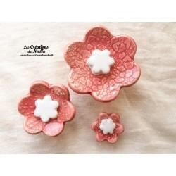 Poppies fleurs pour les jardinières, série de trois fleurs