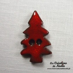 Bouton sapin rouge piment