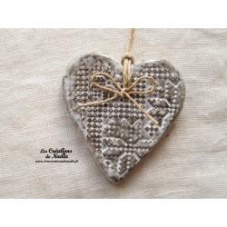 Coeur Katela couleur Elsass café impressions façon point de croix