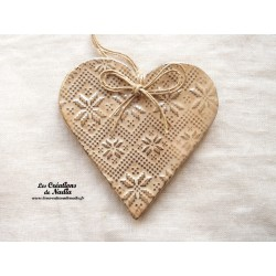 Coeur Liesel couleur marron glacé en céramique